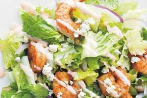 Buffalo Shrimp Dinner Salad by Elite Training Facility