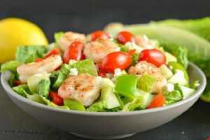 Greek Salad with Shrimp by Elite Training Facility