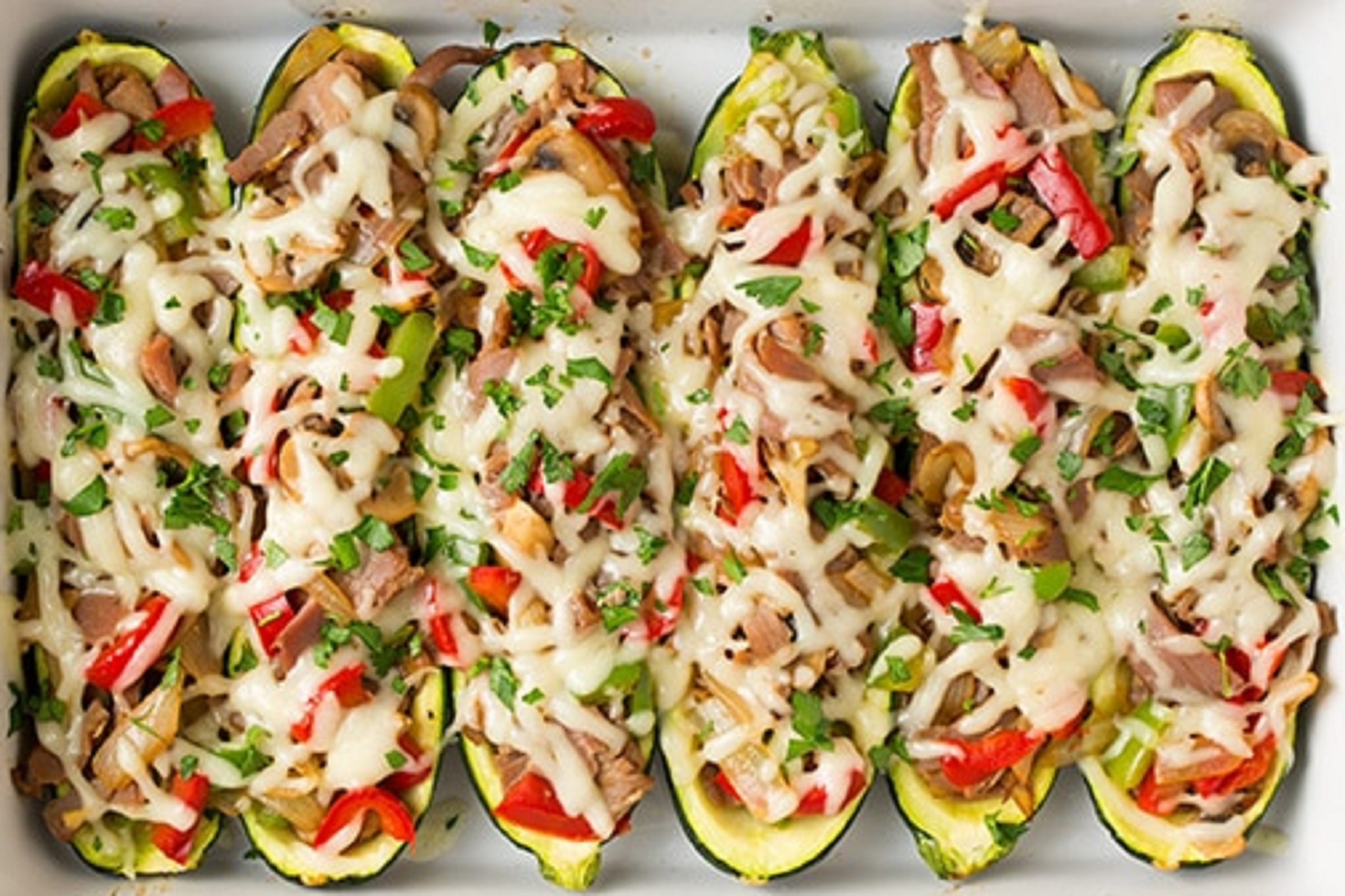 Philly Cheese Steak Zucchini by Elite Training Facility