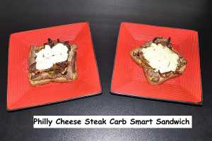 Philly Cheesesteak Carb Smart Sandwich by Elite Training Facility