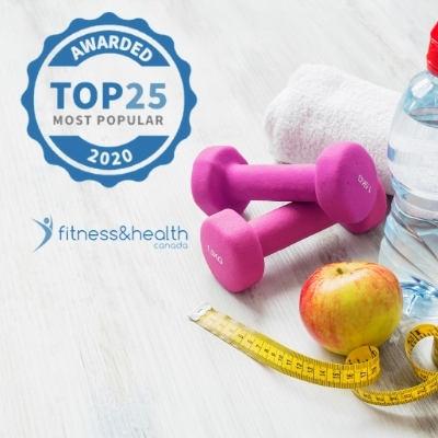 Top 25 Most Popular Fitness and Health - Canada - 2020